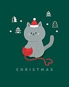 겨울,크리스마스, 캐릭터, 배너