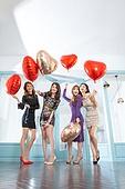 여성, 파티, 연말파티, 드레스, 즐거움, 친구 (컨셉)