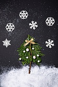 백그라운드, 겨울, 크리스마스, 눈 (얼어있는물), 눈가루, 크리스마스오너먼트 (크리스마스데코레이션), 가지 (식물부분), 잎 (식물부분), 나무, 눈송이 (눈)