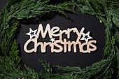 백그라운드, 겨울, 크리스마스, 눈 (얼어있는물), 눈가루, 크리스마스오너먼트 (크리스마스데코레이션), 가지 (식물부분), 잎 (식물부분), 레이아웃