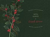 식물학 (주제), 색연필, 자연 (주제), 백그라운드, 잎, 겨울