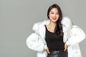 패딩, 롱패딩, 한국인, 동양인 (인종), 따뜻한옷 (옷), 아름다운사람, 한명, 패션, 미녀 (아름다운사람)