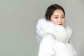 패딩, 롱패딩, 한국인, 동양인 (인종), 따뜻한옷 (옷), 아름다운사람, 한명
