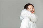 한국인, 동양인 (인종), 패딩, 롱패딩, 재킷 (외투), 따뜻한옷 (옷), 겨울, 외투, 미녀 (아름다운사람)