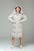 한국인, 동양인 (인종), 패딩, 롱패딩, 재킷 (외투), 따뜻한옷 (옷), 겨울, 외투, 미녀 (아름다운사람), 패션, 귀여움
