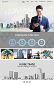 웹템플릿, 메인페이지 (이미지), 비즈니스, 글로벌, 기업, 회사건물 (건물외관), 도시, 비즈니스맨