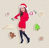 크리스마스 (국경일), 그래픽이미지 (Computer Graphics), 축하이벤트 (사건), 스티커사진, 아이콘, 쇼핑 (상업활동), 선물 (인조물건)