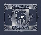 신년, 돼지, 2019, 연하장, 배너