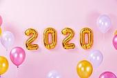 백그라운드, 풍선, 장식품 (인조물건), 연말, 파티, 새해 (홀리데이), 새해첫날 (새해), 2020, 2020년