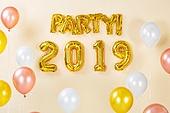 백그라운드, 풍선, 장식품 (인조물건), 연말, 파티, 새해 (홀리데이), 새해첫날 (새해), 2019, 2019년