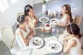 한국인, 여성, 처녀파티 (파티), 파티, 브라이덜샤워, 대화