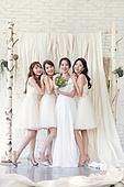 한국인, 여성, 처녀파티 (파티), 파티, 신부 (결혼식역할), 신부들러리 (결혼식역할), 함께함 (컨셉), 브라이덜샤워