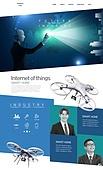 웹템플릿, 홈페이지, 4차산업혁명 (산업혁명), 인공지능, 로봇, 비즈니스, 산업