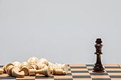 비즈니스, 비즈니스맨 (사업가), 스튜디오촬영 (실내), 실내, 누끼, 클로즈업, 체스, 체스판, 대결