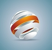 Abstract globe symbol internet and social network concept. Isolated vector icon.