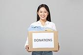 사람, 한국인, 기부, 기부 (움직이는활동), 상자 (용기)