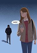 폭력, 우울, 어두움 (색상강도), 데이트폭력