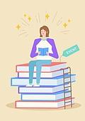 상업이벤트 (사건), 세일 (사건), 라이프스타일, 신입생 (학생), 책, 읽기 (응시)