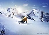 겨울, 스포츠, 눈 (얼어있는물), 스키장, 레저활동 (주제), 하늘, 설경 (풍경), 스노우보드 (스포츠용품)