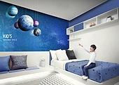 인테리어, 집, 상상력 (컨셉), 가구, 어린이 (인간의나이), 실내, 행성, 침대