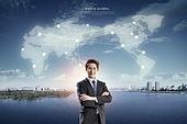 비즈니스, 글로벌, 산업, 글로벌비즈니스 (비즈니스), 고층빌딩 (회사건물)