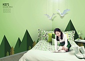 인테리어, 집, 상상력 (컨셉), 가구, 실내, 십대소녀 (여성), 침대, 장난감모빌 (장난감)