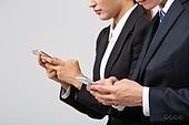남성, 여성, 비즈니스, 스마트폰, 사람손 (주요신체부분)