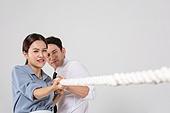 남성, 여성, 비즈니스, 줄다리기, 협력 (컨셉), 역경 (컨셉), 노력