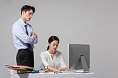 남성, 여성, 비즈니스, 사무실, 인턴 (직업), 불만, 실패 (컨셉)