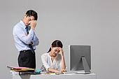 남성, 여성, 비즈니스, 사무실, 인턴 (직업), 불만, 실패 (컨셉), 스트레스