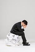 남성, 청년실업, 취업준비생, 실패 (컨셉), 걱정 (어두운표정), 우울, 절망 (슬픔)