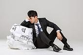 남성, 청년실업, 취업준비생, 실패 (컨셉), 걱정 (어두운표정), 우울, 절망