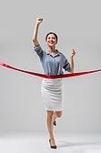 여성, 비즈니스, 비즈니스우먼, 성공, 미소, 일등 (승리), 결승선