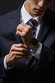 남성, 비즈니스맨, 시계, 손목시계