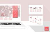 그래프, 디자인엘리먼트, 비즈니스, 인포그래픽, 프리젠테이션 (연설), 보고서, 리빙코랄