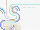 기하학모양, 파스텔톤, 도형, 디자인, 선 (인조물건)