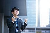 남성, 비즈니스, 구직 (실업), 신입사원 (화이트칼라), 성공, 미소, 희망, 화이팅, 자신감