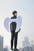 남성, 비즈니스, 구직 (실업), 신입사원 (화이트칼라), 성공, 날개 (동물팔다리), 뒷모습, 결의
