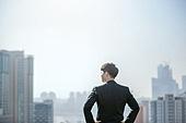 남성, 비즈니스, 구직 (실업), 신입사원 (화이트칼라), 성공, 뒷모습, 도전 (컨셉), 결의 (컨셉)