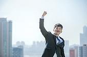 남성, 비즈니스, 구직 (실업), 신입사원 (화이트칼라), 성공, 도전 (컨셉), 결의 (컨셉), 황홀 (밝은표정), 미소