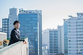 남성, 비즈니스, 구직 (실업), 신입사원 (화이트칼라), 성공, 뒷모습, 도전 (컨셉), 결의 (컨셉), 미소