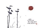 새해 (홀리데이), 일러스트, 명절 (한국문화), 한국 (동아시아), 전통문화 (주제), 솟대