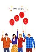 2019년, 새해 (홀리데이), 환호 (말하기), 희망, 기쁨, 파티, 청년 (성인), 풍선
