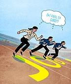 구직 (실업), 취업준비생 (역할), 청년 (성인), 실업 (고용문제), 트랙경기 (육상경기), 경쟁 (컨셉)