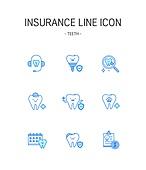 아이콘세트 (아이콘), 벡터파일 (일러스트), 상해보험, 보험 (주제), 치과, 치아보험, 약 (의료품), 치아, 치아건강