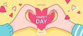 벡터파일 (일러스트), 상업이벤트 (사건), 팝업, 기념일, 발렌타인데이, 사랑 (컨셉)