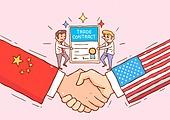 글로벌, 미국 (북아메리카), 중국 (동아시아), 경쟁 (컨셉), 비즈니스, 글로벌비즈니스