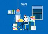 비즈니스, 스타트업, 사무실, 야간근무 (고용문제)