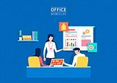 비즈니스, 사무실, 팀워크, 협력, 야간근무 (고용문제), 비즈니스미팅 (미팅)