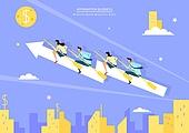 비즈니스, 팀워크, 비즈니스맨, 비즈니스우먼, 협력, 단결 (함께함), 희망